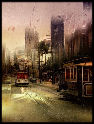 Art print titled Rainy Day In San Francisco by the artist Luba Chapman
