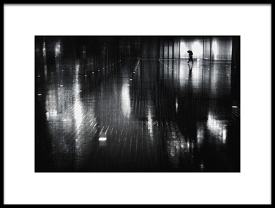 Art print titled Rainy Night by the artist Teruhiko Tsuchida