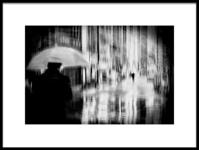 Art print titled Rainy Town by the artist Teruhiko Tsuchida