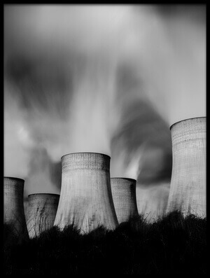 Art print titled Ratcliffe Power Station by the artist Tim Allen