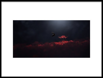 Art print titled Raven Black and Red by the artist Takashi Suzuki