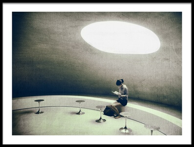 Art print titled Reading by the artist Koji Sugimoto