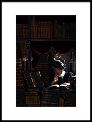 Art print titled Reading Time by the artist Yasuhiro Ujiie
