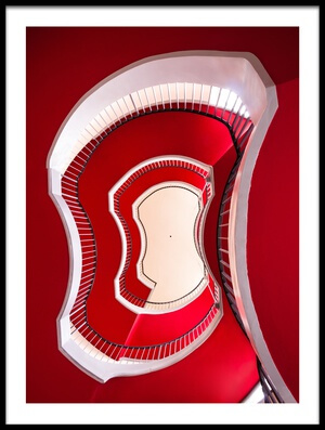 Art print titled Red & White by the artist Max Zimmermann