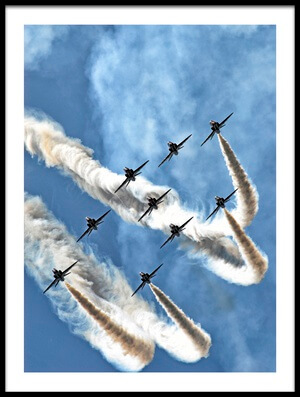 Art print titled Red Arrows by the artist Rafał Czernia