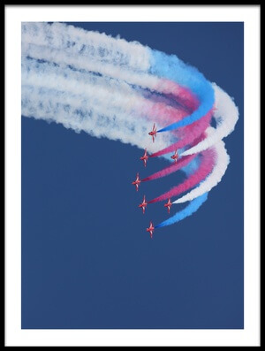 Art print titled Red Arrows by the artist Jonathan Simons