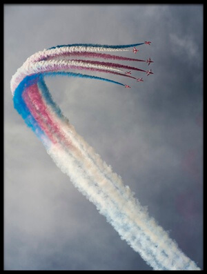 Buy this art print titled Red Arrows by the artist Leon