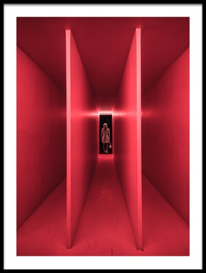 Art print titled Red Dimension by the artist Marco Tagliarino