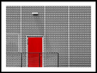 Art print titled Red Door by the artist Gary E. Karcz