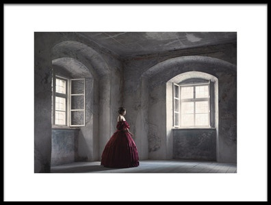 Art print titled Red Gown by the artist Magdalena Russocka