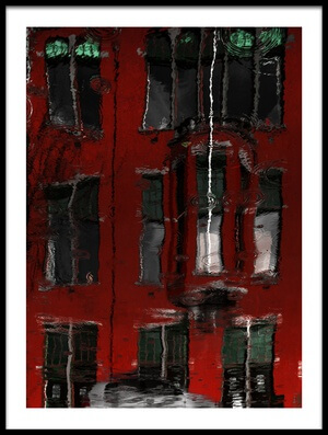 Buy this art print titled Red House Reflections by the artist Gilbert Claes