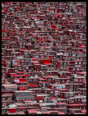 Buy this art print titled Red Houses by the artist Ali Al-Jazeri