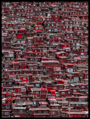 Buy this art print titled Red Houses II by the artist Ali Al-Jazeri
