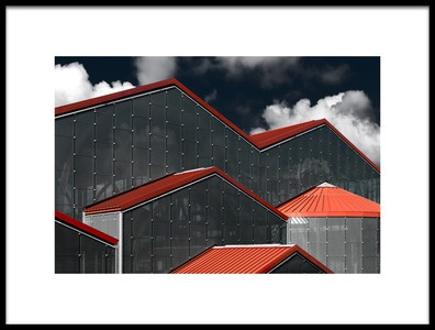 Art print titled Red Rooftops by the artist Michiel Hageman