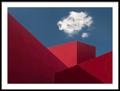 Art print titled Red Shapes by the artist Hugo Borges