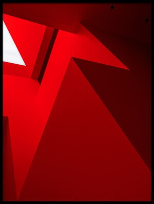 Art print titled Red Shapes by the artist Tomasz Buczkowski