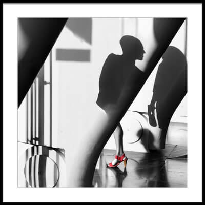 Art print titled Red Shoe by the artist Juan Luis Duran