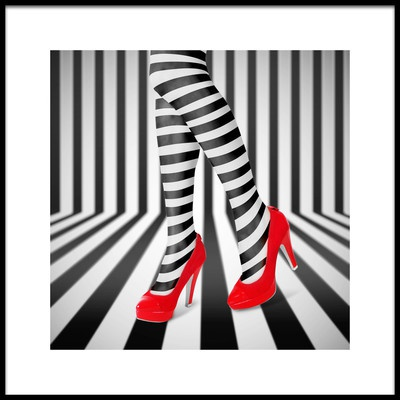 Buy this art print titled Red Shoes by the artist Ihdar Nur ; Dadank