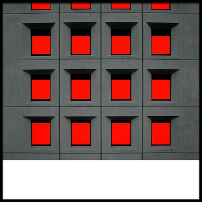 Art print titled Red Squares by the artist Inge Schuster