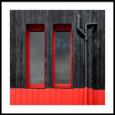 Buy this art print titled Red Windows by the artist Jutta Kerber