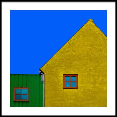 Art print titled Red Windows by the artist Inge Schuster