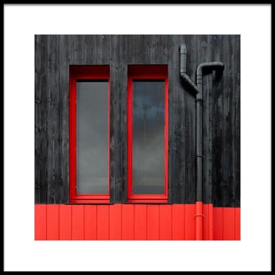 Art print titled Red Windows by the artist Jutta Kerber
