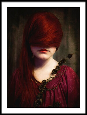 Art print titled Redhead by the artist Jorun Larsen