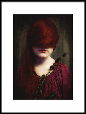 Buy this art print titled Redhead by the artist Jorun Larsen