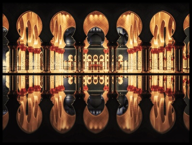 Buy this art print titled Reflections In the Mosque by the artist Massimo Cuomo