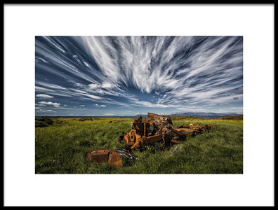 Buy this art print titled Remains of Vehicle by the artist Þorsteinn H. Ingibergsson