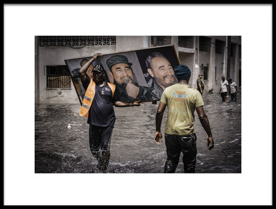 Art print titled Rescued Castro by the artist Andreas Bauer