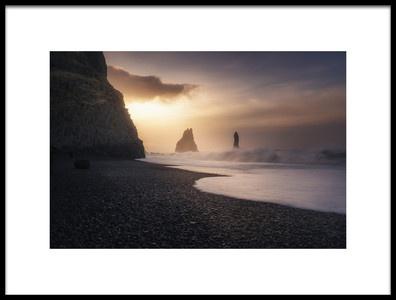 Buy this art print titled Reynisfjara Sunrise by the artist Jorge Ruiz Dueso