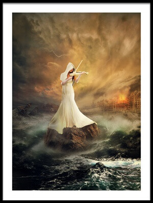 Art print titled Rhythm of the Storms by the artist rooswandy juniawan