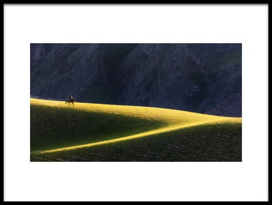 Art print titled Ride Home by the artist Ke Liu