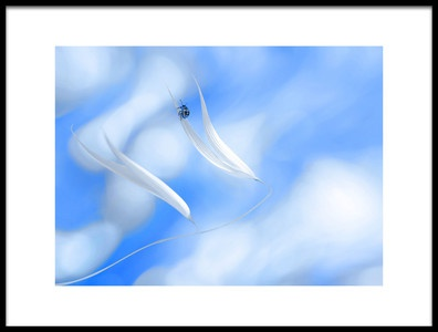 Art print titled Ride With the Angels by the artist Thierry Dufour
