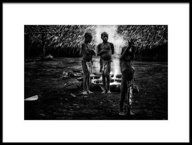 Art print titled Ritual of FireII Jaramaja, Espiritu Santo Island, Vanuatu by the artist Joxe Inazio Kuesta Garmendia