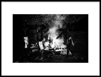 Art print titled Ritual of FireIII Jaramaja, Espiritu Santo Island, Vanuatu by the artist Joxe Inazio Kuesta Garmendia