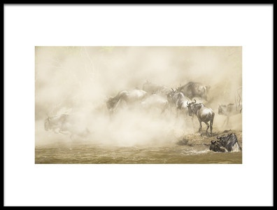 Art print titled River Crossing by the artist Eunice kim