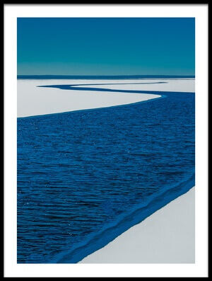 Art print titled River On the Lake by the artist Mark Goodman