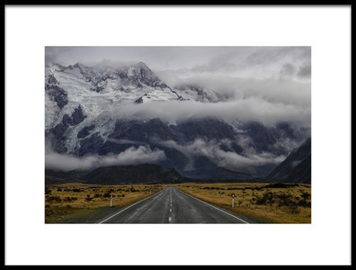 Art print titled Road to Mt Cook by the artist Dragan Keca