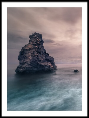 Art print titled Rocks Emerging by the artist Juan Facal Photography