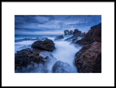 Art print titled Rocky Blue by the artist Sergio Lanza