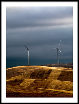 Buy this art print titled Rolling Wheat Fields by the artist Charles Lai