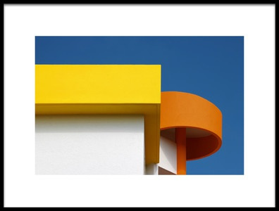 Art print titled Rotunda In Orange by the artist Rolf Endermann