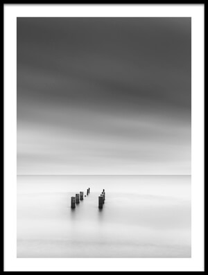 Art print titled Ruined Pier II by the artist George Digalakis