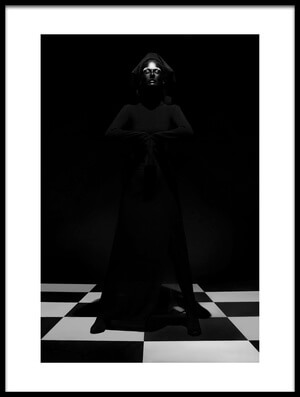 Art print titled Rules of the Game the Black Queen by the artist Ivan Kovalev