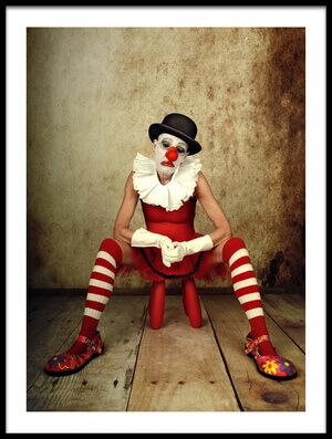 Buy this art print titled Sad Clown by the artist Monika Vanhercke