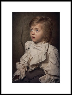 Art print titled Sad Little Boy by the artist Carola Kayen-Mouthaan