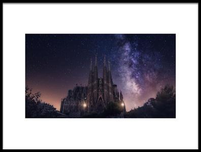 Art print titled Sagrada Familia by the artist Carlos F. Turienzo