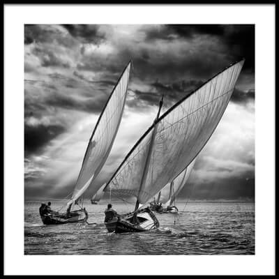 Buy this art print titled Sailboats and Light by the artist Angel Villalba